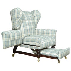 19th Century Reclining Wing Armchair