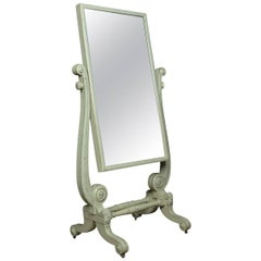 Regency Painted Cheval Mirror
