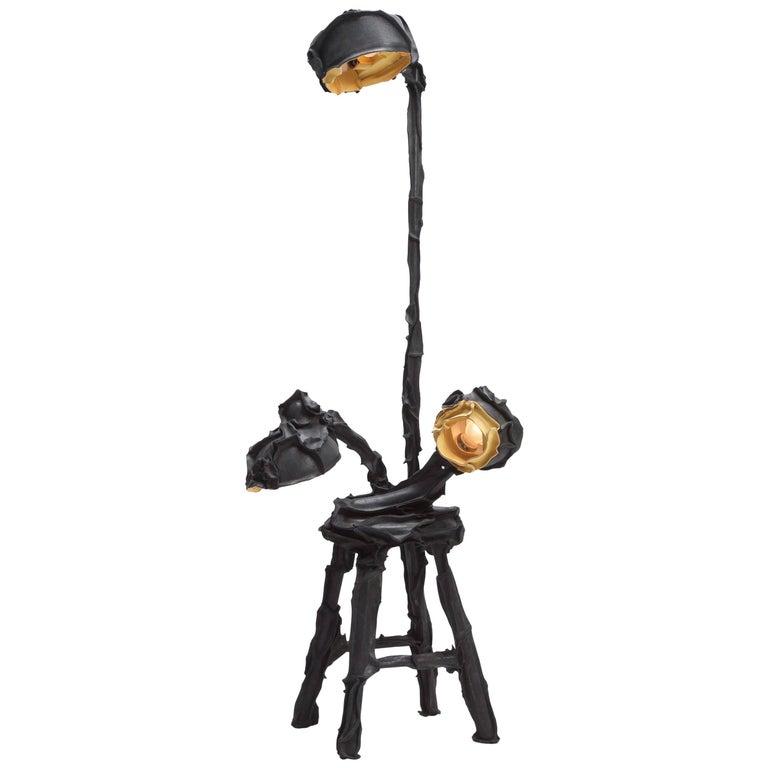 Black Skin Lamp by Pepe Heykoop