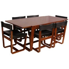 Dining Table and Chairs by Uniflex, circa 1960