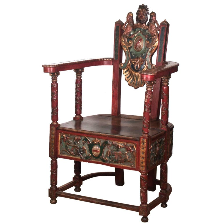 17th Century French Wooden Chair, Renaissance 1