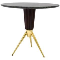 Circular Side Table in Green Marble, circa 1950