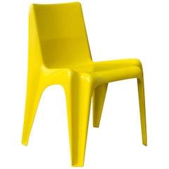 Rare Plastic Organic Chair in Yellow, circa 1970