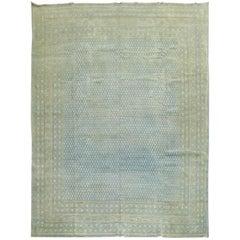 Aqua Blue Persian Seraband Antique Rug