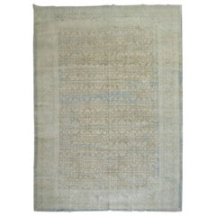 Distressed Persian Tabriz Oversize Carpet