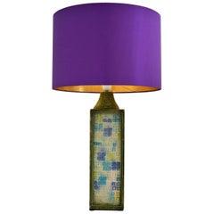 "Huge Ceramic Table Lamp with ""Cristalline"" Decor, Bitossi, Italy, 1963"
