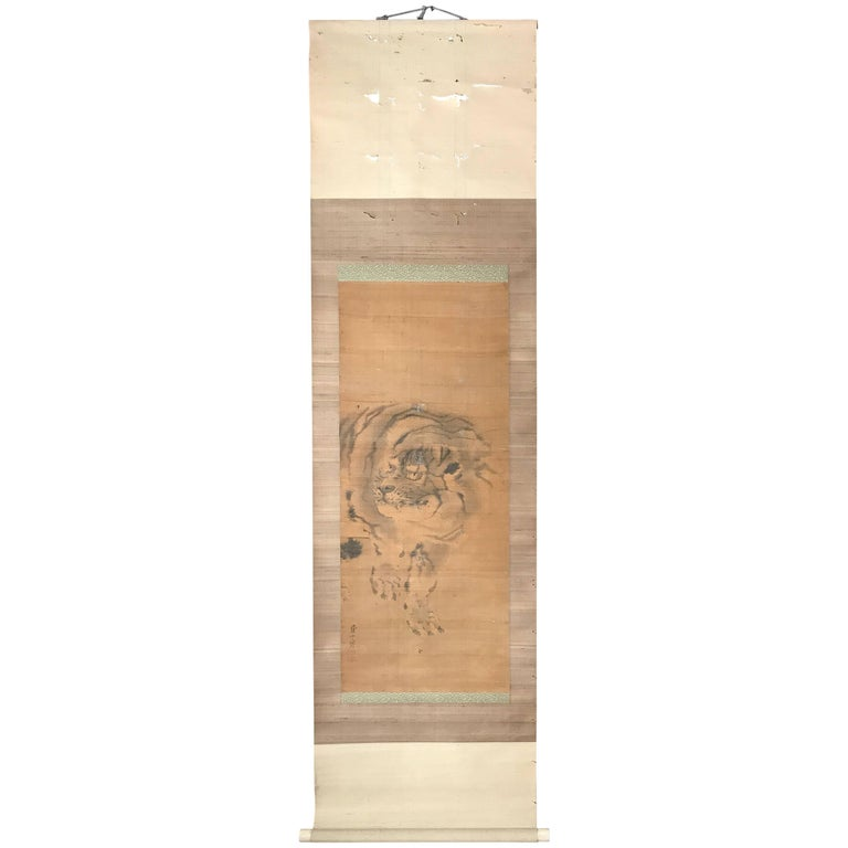 Antique Japanese Scroll: Antique Japanese Erotic Makimono, Long Hand Scroll, Circa