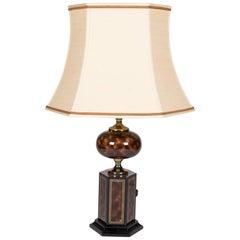 Faux Tortoise Table Lamp by Maison Jansen
