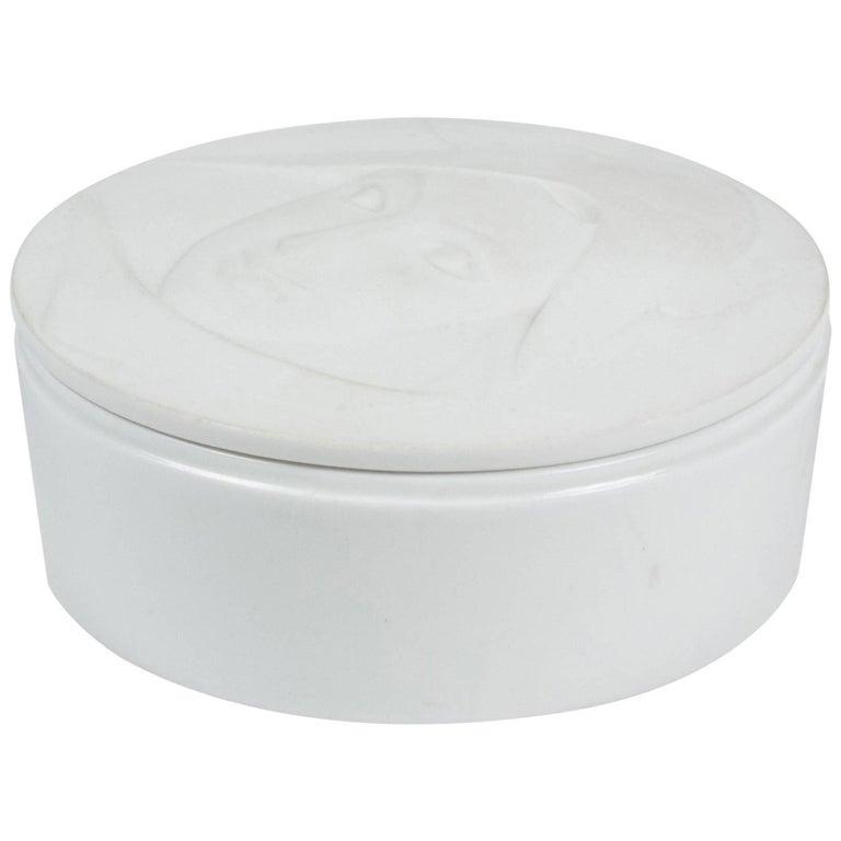 Circular Matte Porcelain Lidded Dish by KPM 1