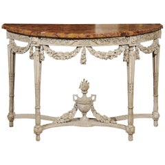 Large 18th Century French Painted Louis XVI Period Console