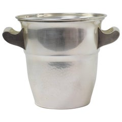 Art Deco 1940s French Silver Plate Champagne Cooler or Ice Bucket