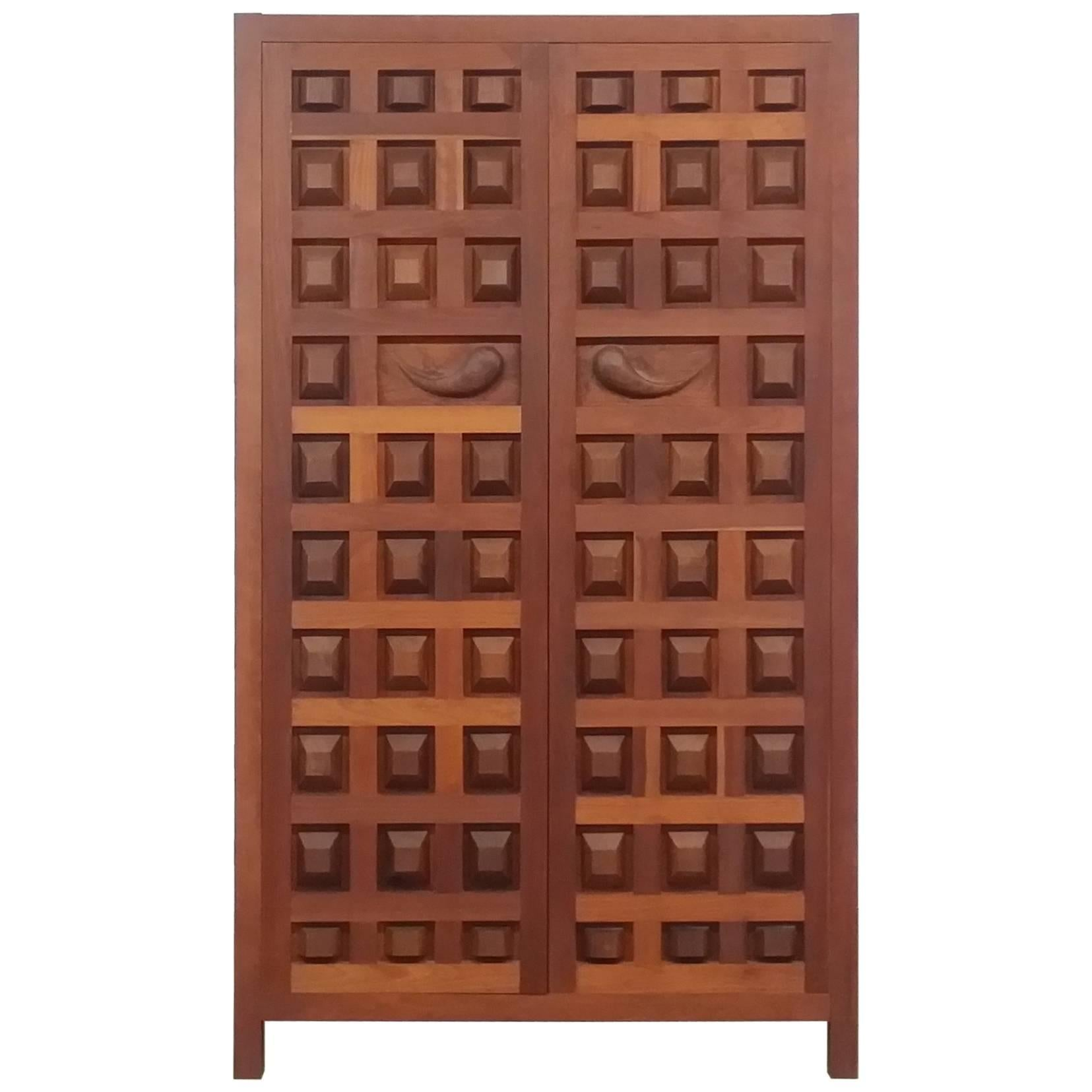 Studio Cabinet In Cherry And Black Walnut By Sam Forrest