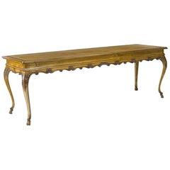 Impressive Italian Rococo Style Fruitwood Long Table
