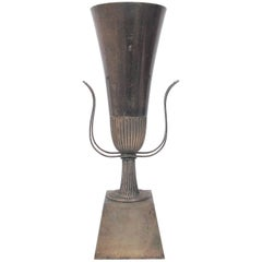 Tommi Parzinger Silver Urn Lamp