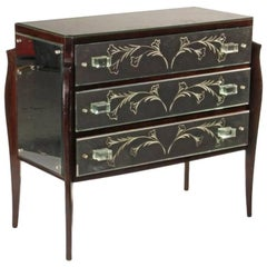 Italian Art Deco Style Mirrored Chest of Drawers