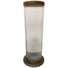 Glass and Bronze Cylindrical Lamp