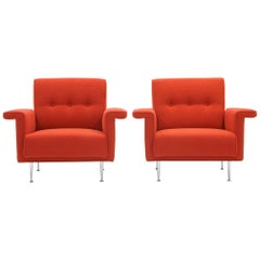 Pair of George Nelson Thin Edge Armchairs No. 5481 for Herman Miller, 1954