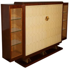 Rousseau and Lardin Cabinet with Parchment Doors