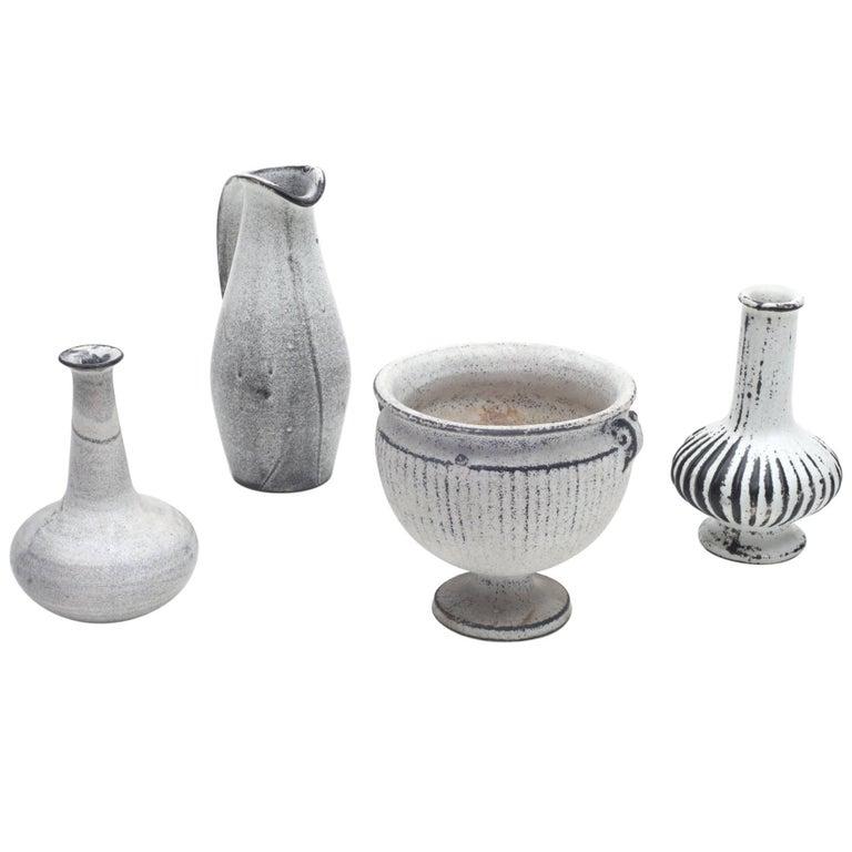 Herman A. Kahler Keramik Earthenware Vases by Svend Hammershoj, Denmark, 1930s 1