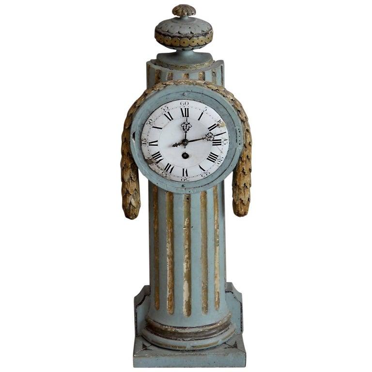 Swedish Louis XVI Giltwood Clock