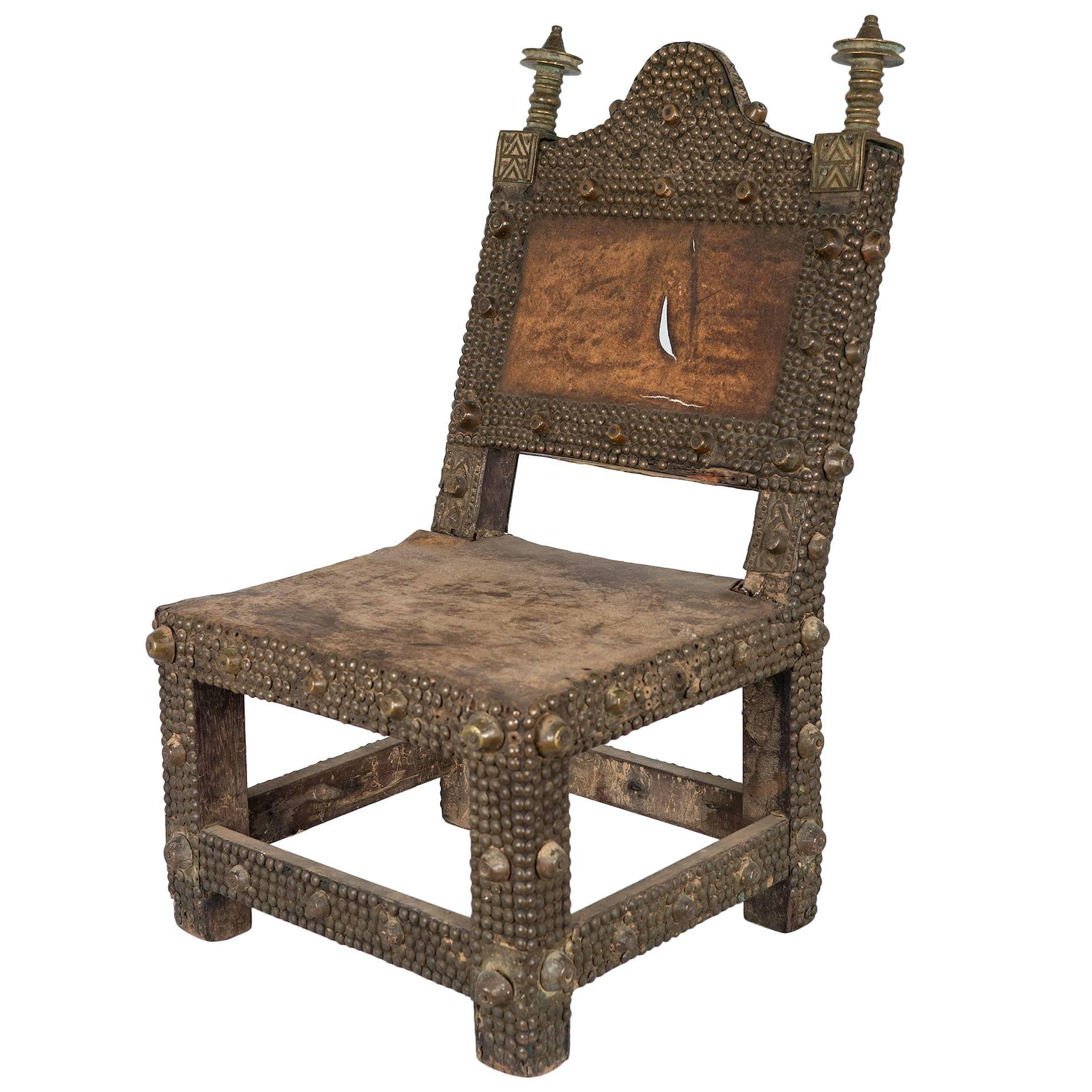 Lovely Vintage African Ashanti Kings Chair/ Throne For Sale