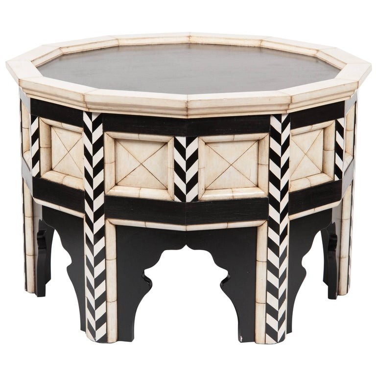 Souk Side Table with Faux Ivory