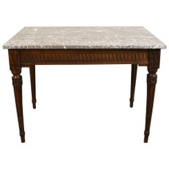 19th Century French Neoclassical Marble-Top End Table, circa 1860