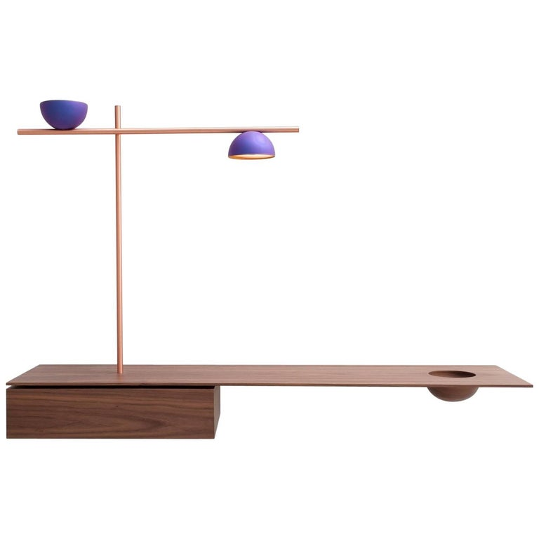AM Sideboard Lighting in Purple Niobium by Claudia Moreira Salles For Sale