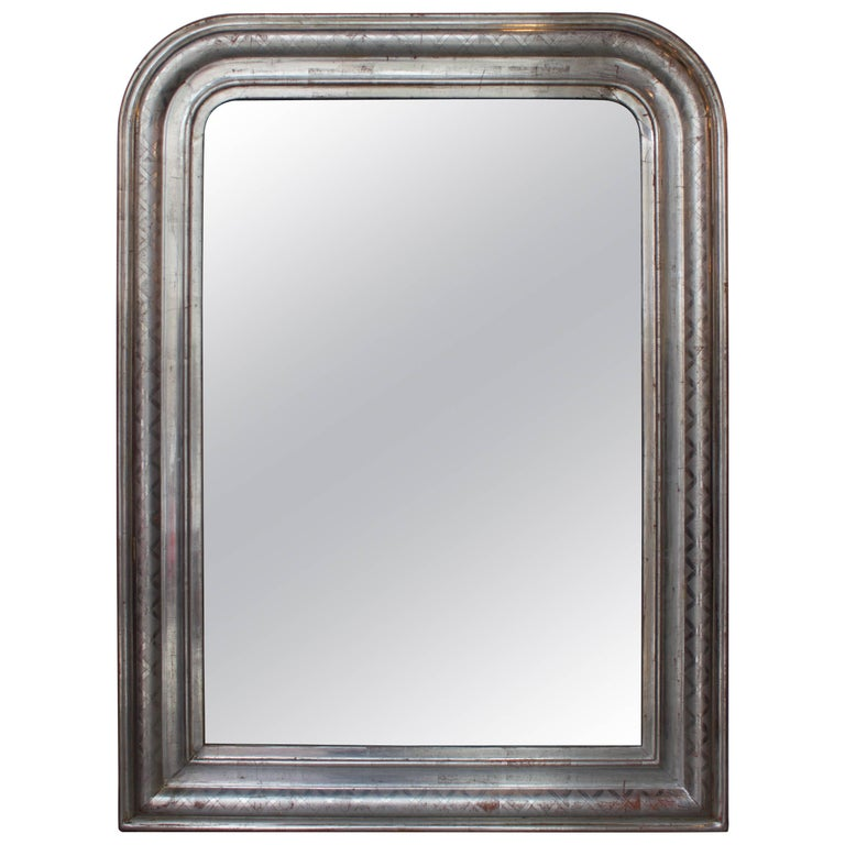 French Silver Louis Philippe Mirror