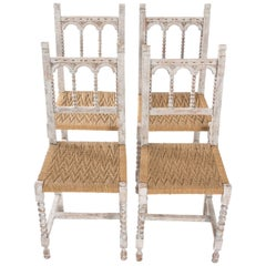 Gothic Style Painted Side Chairs