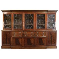 Monumental 19th Century Grand English Mahogany Bookcase, Secretary