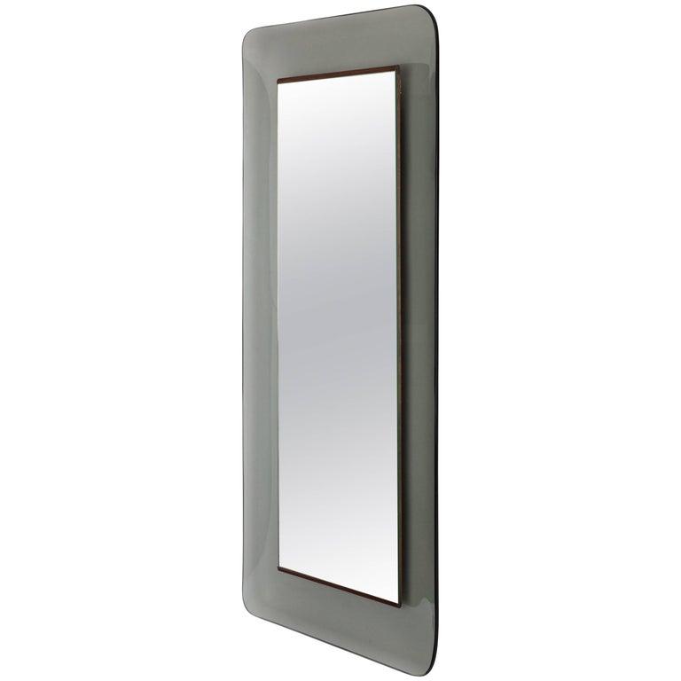 Max Ingrand for Fontana Arte Rectangular Glass Framed Mirror, Model 2273