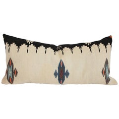 Early 20th Century Geometric Mexican Indian Tex Coco Bolster Pillow