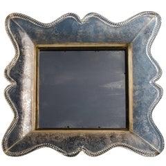 Seguso Vetri d'Arte Rare Smoked Glass Framed Mirror, Italy, circa 1940