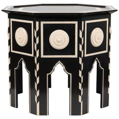 Tangier Side Table with Faux Ivory