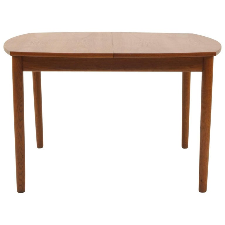 Square Expanding Danish Modern Teak Dining Table by Ejner Larsen & Aksel Madsen
