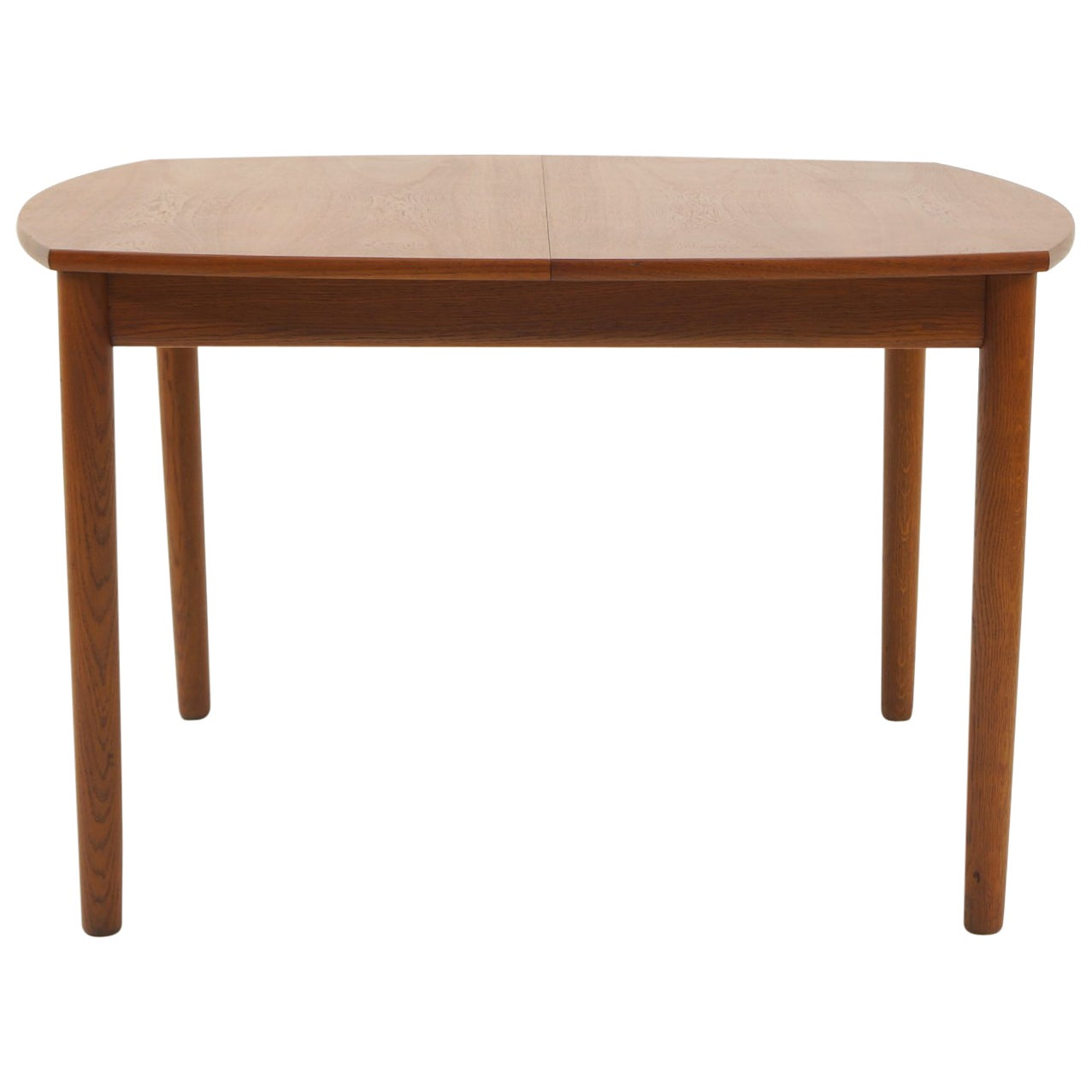Square Expanding Danish Modern Teak Dining Table by Ejner Larsen & Aksel Madsen