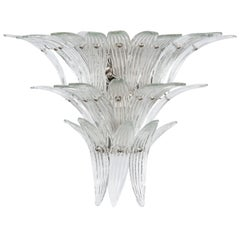 Italian 1970s Tiered Murano Sconce by Venini