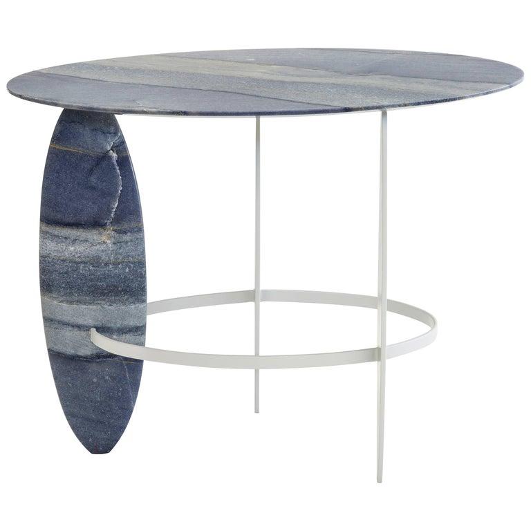 Pablina Azul Macaubas Side Table by Leonardo Di Caprio For Sale