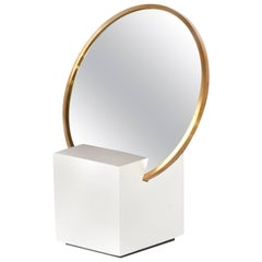 Slash Vanity Mirror White and Black by Slash Objects, Made in USA