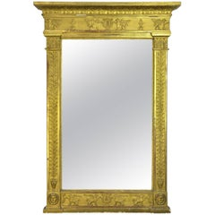 Early 19th Century French Empire Gilt Mirror