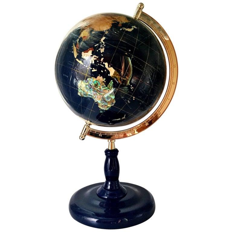 Gem Stone Globe For Sale At 1stdibs