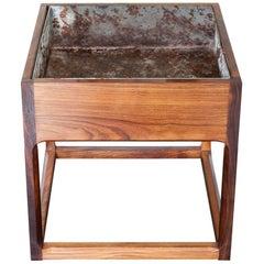 1960s Midcentury Danish Aksel Kjersgaard Rosewood Cubic Planter