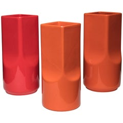 Set of Three Ceramic Vases by Studio O.P.I. for Gabbianelli