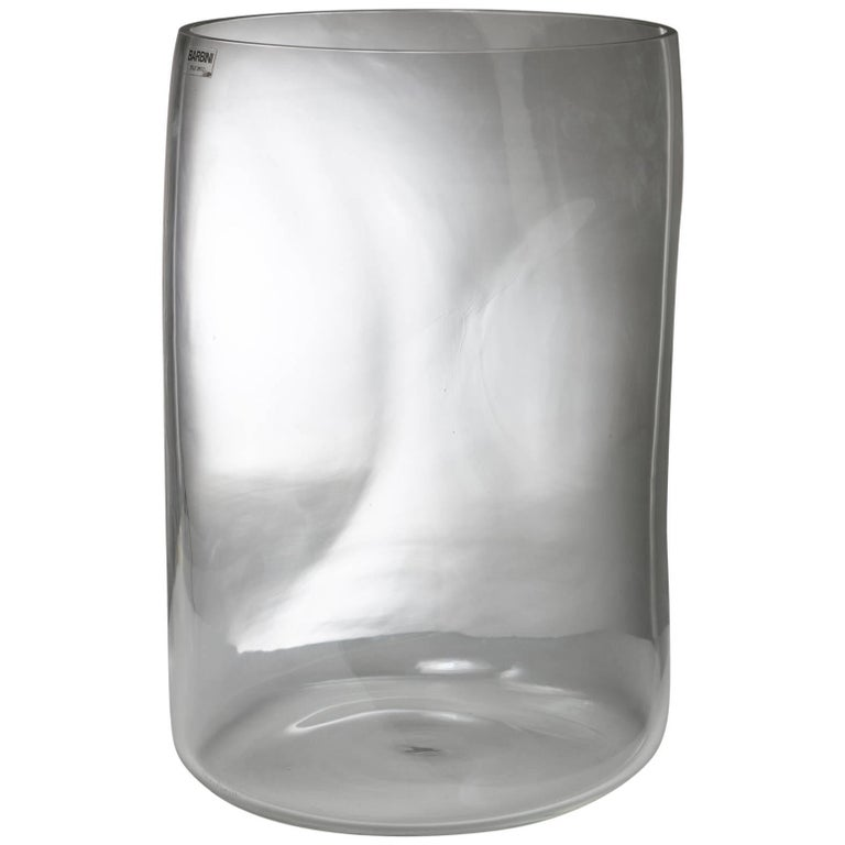 Large Crystal Vase by Barbini For Sale