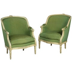 Pair of Late 19th Century Overscale Bergère