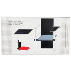 Rietveld 'Berlin Chair and End Table' Model Toy, 1985