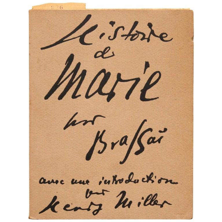 "George Brassaï ""Histoire de Marie"" 1949 Book"