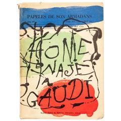 """Antoni Gaudí & Joan Miró """"Los Papeles de Son Armadans"""" 1958, Magazine"""