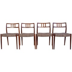Set of Four Rosewood Model 79 Chairs by Niels Otto Moller
